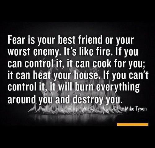Fear: Embrace It, Control It!